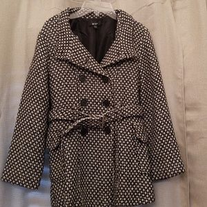 Black /White Dress Coat